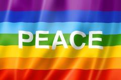 Rainbow peace flag Stock Photos