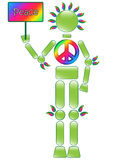Rainbow Peace Man Stock Photography