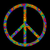 Rainbow Peace Sign Royalty Free Stock Photos