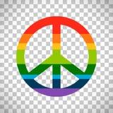 Rainbow peace symbol on transparent background Royalty Free Stock Image