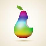 Rainbow pear Royalty Free Stock Photos
