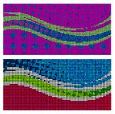 Rainbow pearls banners. Set of two pearled banners vector illustration