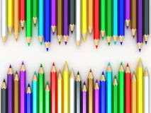 Rainbow pencil. Isolated on white Royalty Free Stock Photography
