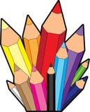 Rainbow Pencil City Icon Royalty Free Stock Photography