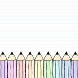 Rainbow Pencil on Paper Stock Images