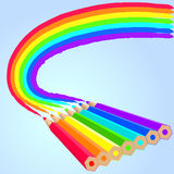 Rainbow pencils Royalty Free Stock Image