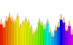Rainbow pencils Royalty Free Stock Images