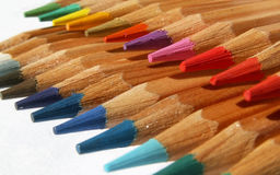 Rainbow of pencils Stock Image