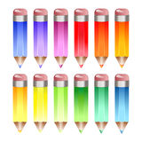 Rainbow pencils Royalty Free Stock Photos