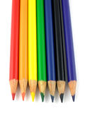 Rainbow pencils. Rainbow colored pencils Stock Image