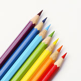 Rainbow pencils Stock Images