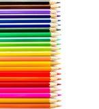 Rainbow Pencils art school supplies Stock Photo