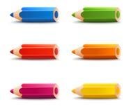 Rainbow pencils Royalty Free Stock Photography