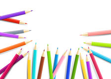 Rainbow  pencils isolated on white background. Vector EPS10. Royalty Free Stock Photo