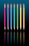 Rainbow-pencils.jpg Royalty Free Stock Photography