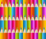 Rainbow pencils pattern Royalty Free Stock Image