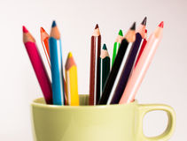 Rainbow of pencils. Set of pencils for drawing Royalty Free Stock Photography