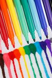 Rainbow Pens Royalty Free Stock Photography