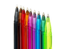 Rainbow of Pens Stock Images