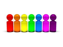 Rainbow people 2 Stock Photos