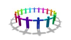 Rainbow people royalty free illustration