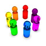 Rainbow people 4 Royalty Free Stock Photography