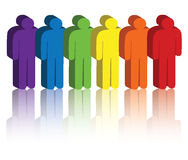 Rainbow people icons Stock Photo