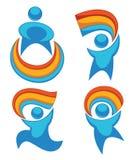 Rainbow people Stock Image