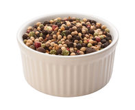 Rainbow Peppercorn Isolated clipping path Stock Photos