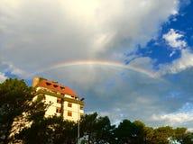 Rainbow perfetto fotografia stock libera da diritti