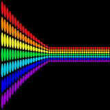 Rainbow perspective Royalty Free Stock Images