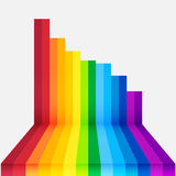 Rainbow perspective background Stock Image