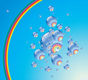 Rainbow phial. Royalty Free Stock Photos