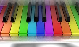 The rainbow piano Stock Images
