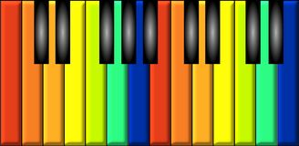 Rainbow piano Royalty Free Stock Image