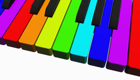 Rainbow piano Stock Photography