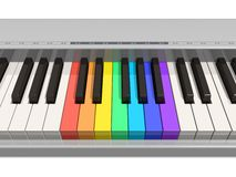 Rainbow piano keyboard Royalty Free Stock Photo