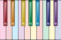Rainbow piano keyboard Royalty Free Stock Photos