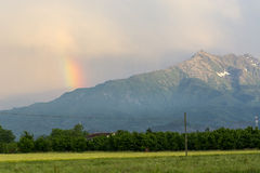 Rainbow in Piedmont Royalty Free Stock Photography