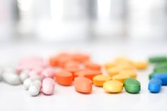 Rainbow of pills Royalty Free Stock Image