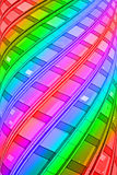 Rainbow pilone, modern interior, Royalty Free Stock Image