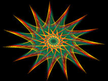 Rainbow Pinwheel. Fractal rendering of a rainbow pinwheel Stock Illustration