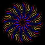 Rainbow pinwheel Royalty Free Stock Photos