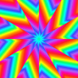 Rainbow Pinwheel Royalty Free Stock Photo