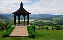 Mountain Top Gazebo Stock Photography