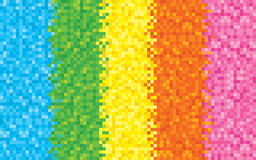 Rainbow Pixel Background Royalty Free Stock Photography