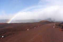 Rainbow on the Plaine des Sables. La Réunion Royalty Free Stock Photos