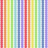Rainbow plait seamless pattern Royalty Free Stock Photos
