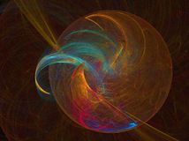 Rainbow planet. Abstract fractal background created with apophysis Royalty Free Stock Photography