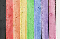 Rainbow Planks Royalty Free Stock Image